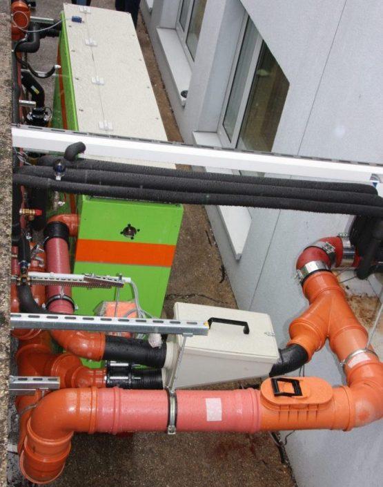Energie aus Abwasser - Anlage