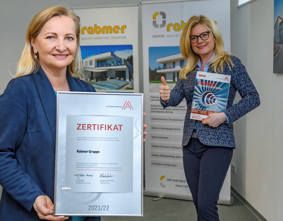 Rabmer Group certified as a leading Austrian company for the first time!