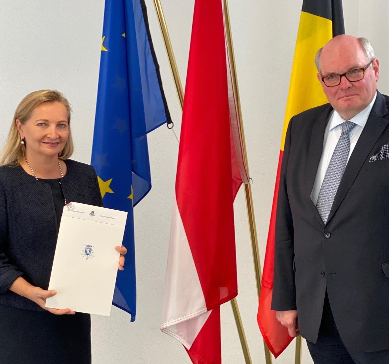 Ulrike Rabmer-Koller is sworn in as Belgian honorary consul