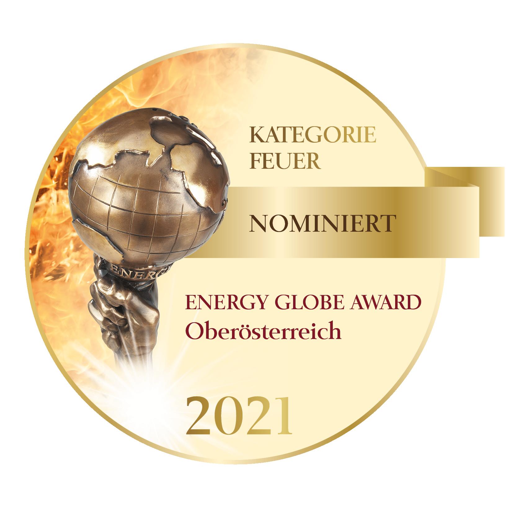 Nominierung zum Energy Globe Oberösterreich 2021